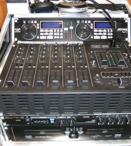 1 x Discokonsole mit Mischpult & Doppel CD Player: Mietpreis pro Tag 40,- Euro bei Abholung